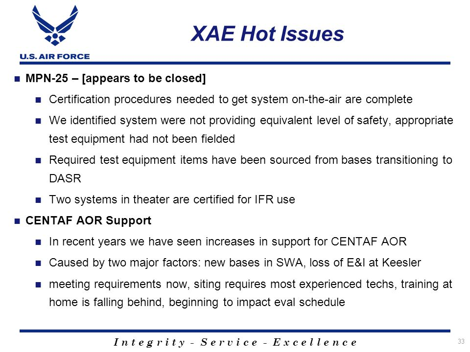 XAE Hot Issues MPN-25 – [appears to be closed]